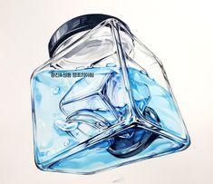#기초디자인 #건국대 #실기대회 #유리병 #개체묘사 #성동구 #미술학원 Copic, Art Reference, Illustration Art, Perfume, Glass, Painting, Design, Jars, Watercolor Painting