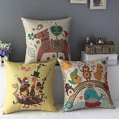 Set+of+3+Kid's+Favoutite+Colorful+Cartoon+Decorative+Pillow+Covers+-+DKK+kr.+280