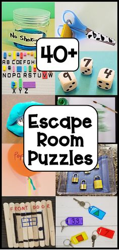 Make an escape room at home with this huge collection of escape room challenge ideas and puzzles. #escaperoomchallengeideas #escaperoomforkids #escaperoompuzzles Rainy Day Activities, Indoor Activities For Kids, Kids Learning Activities, Spring Activities, Sensory Activities, Family Activities, Play Based Learning, Fun Learning, Creative Teaching