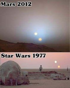 Mars = Tatooine?  Seems legit