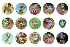 Paw Patrol New Pup Tracker and Apollo 1 inch bottle cap images