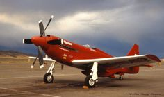 "Reno - 1978 - Unlimited Class - North American Aviation RB-51 Mustang (#5) ""RED BARON"" Steve Hinton Finished 1st (Gold) Speed 415.457 mph"