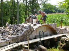 how to build stone bridge over creek - Google Search