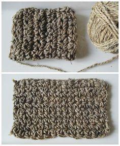 """Après les serviettes, parlons un peu """"éponge""""... Quand on entre dans une démarche anti-gaspi se pose très rapidement la question ... Crochet Home, Knit Crochet, Knitting For Dummies, Diy Crafts To Sell, Zero Waste, Twine, Knitting Patterns, Knitting Projects, Creations"""