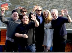 Nick Frost, Tom Sturridge, Bill Nighy, Tallulah Riley, director Richard Curtis and Hoffman drop anchor at a Berlin photocall for the film.