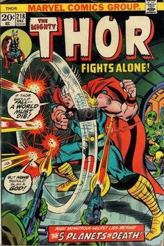 THOR # 218 MARVEL COMICS GERRY CONWAY / JOHN BUSCEMA 1973 fine(6.0) ~