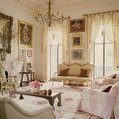 graceful lines, ethereal pink, ivory, gold and brown - Richard Keith Langham