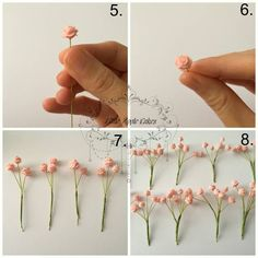 Mini Roses Tutorial ~ Insipred by Baby's Breath flowers -