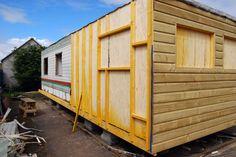 static caravan clad in wood - Google Search
