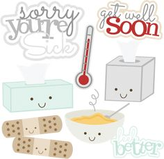 Sorry You're Sick - SVG scrapbooking files