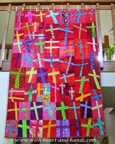 Michele Bilyeu Creates With Heart and Hands: The Healing Power of Love Cross Quilt