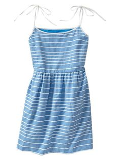 Stripe strappy fit & flare dress Product Image
