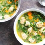 30 Minute Turkey Meatball and Kale Soup | (gluten free, dairy free) \ www.savorylotus.com