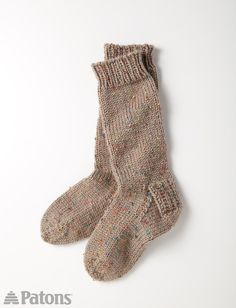 Yarnspirations.com - Patons Slouchy Socks  - Patterns  | Yarnspirations