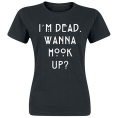 "American Horror Story T-Shirt, Women ""Wanna Hook Up"" black Order now at EMP"