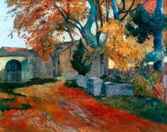 The artwork fine art print and hand painted oil reproduction of the painting The Alyscamps in Arles, oil painting of Paul Gauguin we deliver as art print on canvas, poster, plate or finest hand made paper. Paul Cezanne, Henri Matisse, Van Gogh Pinturas, Impressionist Artists, Arte Popular, Oil Painting Reproductions, Art Moderne, Paintings I Love, Paintings For Sale