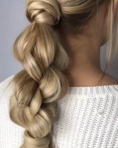 Stylish Braided Hairstyle That you Need # Braids peinados videos Braided Updo That is Just Awesome Easy Hairstyles For Long Hair, Loose Braid Hairstyles, Updo Hairstyle, Everyday Hairstyles, Latest Hairstyles, Prom Hairstyles, Running Late Hairstyles, Ponytail Hairstyles Tutorial, Fine Hairstyles