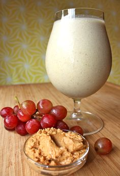 This shake was inspired by the classic sandwich. Make your Shakeology taste like a PB and J with peanut butter and fresh grapes!