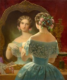 """""""Unidentified painting, possibly German, ca. 1850s. via Ministry of Art. """""""