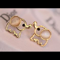 Elephant earrings Comes from a company that donates to mistreated animals- Blue Tahitian J. Crew Accessories