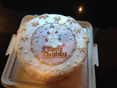 """I'm dreaming of a White Christmas""  my cake this year. A snowy theme."
