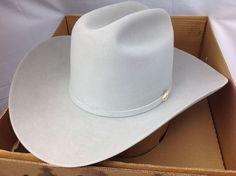 f562e5d4fd7d9 Details about New Stetson 7 1 2 Rancher Mist Grey 6X Beaver Felt Cowboy Hat.  3.5