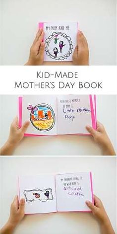 Make a sweet and thoughtful kid-made Mother's Day book with 12 free printable frames and fill-in prompts for kids to draw and write in! special fathers day gifts, moms day crafts, fathers day gifts from church Mothers Day Book, Mothers Day Crafts For Kids, Fathers Day Crafts, Mothers Day Cards, Mother Day Gifts, Mother's Day Activities, Dad Day, Mother's Day Diy, Grandparents Day