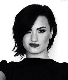 Demi lovato black and white