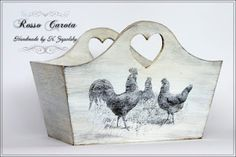 sweet little wood tote made with free image from the Graphics Fairy