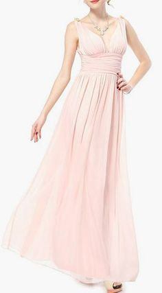 Chiffon Crystal Maxi Evening Dress-Perfect for Easter