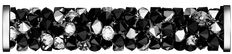 SWAROVSKI® 5950 Fine Rocks Tube (280 Jet Metallic Silver) Swarovski, Innovation, Jet, Tube, Rocks, Metallic, Spring Summer, Steel, Crystals