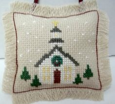 Country Church Cross Stitched Christmas Holiday by luvinstitchin4u