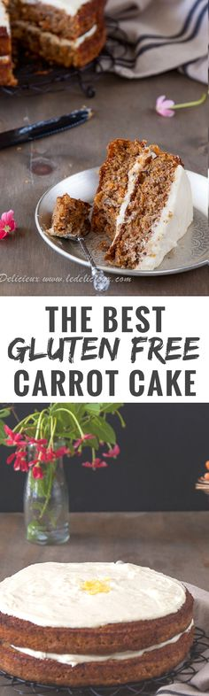 The best Gluten Free Carrot Cake recipe ever.  Only one bowl is needed for this easy gluten free carrot cake recipe that is SO good that you will make it again and again.