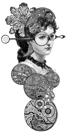 Steampunk 12  Digital Stamp Image via Etsy