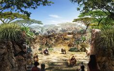 San Diego Zoo Africa Rocks Baboon Perspective by ELM Environments, Quince Farm Studio with Miller Hull Partnership