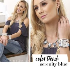 One of the 2016 Pantone colors of the year is Serenity Blue. You can get this hot color trend with our Out of the Blue necklace and Buying Time watch! SHOP: http://bit.ly/20OlSQF #justjewelry #jewelry #fashionaccessories #watch #necklace #new #pantone #serenityblue