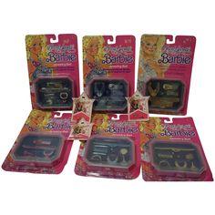 1986 Mattel Barbie Jewel Secrets Jewelry Set x 6 - NRFP - plus 1991 Barbie ring sets for girls Barbie Sets, Mattel Barbie, Pink Stone, Green Stone, Rings For Girls, Vintage Barbie Dolls, Fantasy Jewelry, Barbie Friends, The Secret