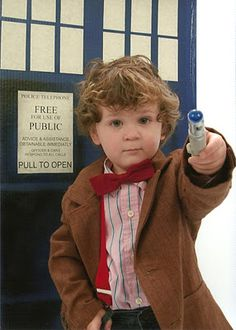 three year old whovian dressed as the doctor from the time of angels episode with homemade tardis doctor who costume cosplay kids child dr - Kids Doctor Halloween Costume