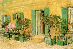 van Gogh: Exterior of Restaurant Asnieres   - Giclee Art Reproduction on Stretched Canvas