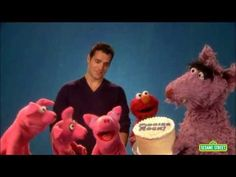Henry Cavill Hangs Out On Sesame Street (even more in love with my future ex-husband lol)