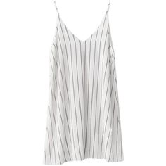 BEMSE Striped Cami Dress ($79) ❤ liked on Polyvore featuring dresses, striped dresses, cotton dress, cotton cami, white cotton camisole and camisole dress