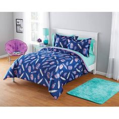 Free 2-day shipping on qualified orders over $35. Buy Your Zone Micromink Inky Feather Comforter Set at Walmart.com