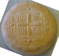 Greek Orthodox prosphoron (communion bread)+ + + Κύριε Ἰησοῦ Χριστέ, Υἱὲ τοῦ Θεοῦ, ἐλέησόν με τὸν + + + The Eastern Orthodox Facebook: https://www.facebook.com/TheEasternOrthodox Pinterest The Eastern Orthodox: http://www.pinterest.com/easternorthodox/ Pinterest The Eastern Orthodox Saints: http://www.pinterest.com/easternorthodo2/