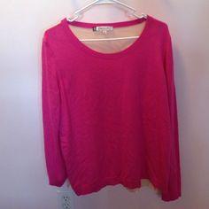 Jennifer Lopez Sweater Pretty in pink! Sweaters Crew & Scoop Necks