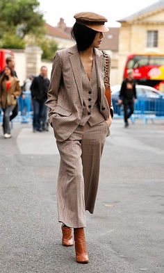 Women's fashion fall suit.