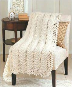 Znalezione obrazy dla zapytania patrones de mantas tejidas a crochet para bebes Crochet Afghans, Afghan Crochet Patterns, Baby Blanket Crochet, Crochet Baby, Crochet Blankets, Chevron Blanket, Crochet Bedspread, Kids Crochet, Square Blanket