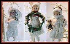 COTTON Batting Doll Ornament Bell,Wreath,Twig