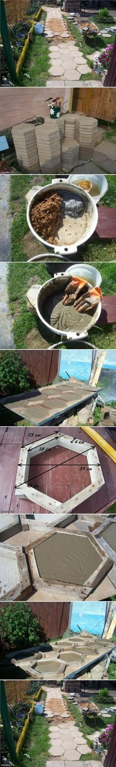 How to make Hexagon Paving Stones step by step DIY tutorial instructions, How to, how to do, diy instructions, crafts, do it yourself, diy w by Mary Smith fSesz