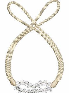 John Lewis Crystal Rope Tieback Rope tieback with a beaded central section http://www.comparestoreprices.co.uk/curtains-and-blinds/john-lewis-crystal-rope-tieback.asp