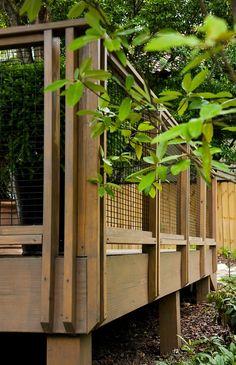 Craftsman-style terrace we built for a major renovation to a Forest Park (Birmingham, AL) bungalow.